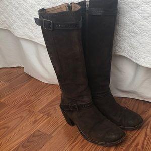 Frye Suede Knee-high Brown Boots sz. 8